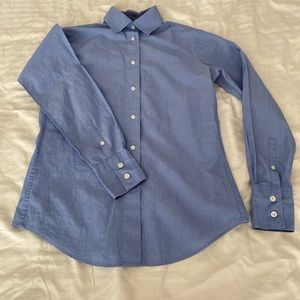 Beautiful Blue Long Sleeve Button Up